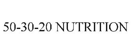 50-30-20 NUTRITION