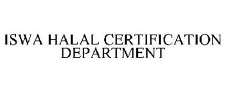 ISWA HALAL CERTIFICATION DEPARTMENT