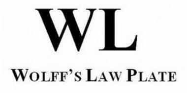 WL WOLFF'S LAW PLATE