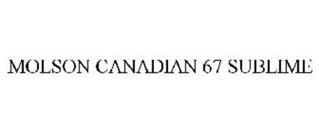 MOLSON CANADIAN 67 SUBLIME