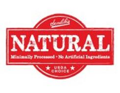 SENDIK'S NATURAL MINIMALLY PROCESSED NO ARTIFICIAL INGREDIENTS USDA CHOICE
