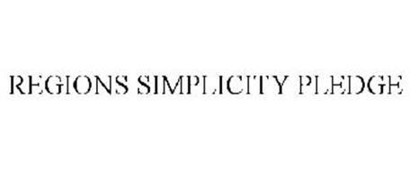 REGIONS SIMPLICITY PLEDGE