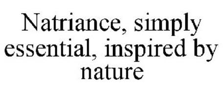 NATRIANCE, SIMPLY ESSENTIAL, INSPIRED BY NATURE