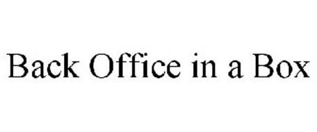 BACK OFFICE IN A BOX