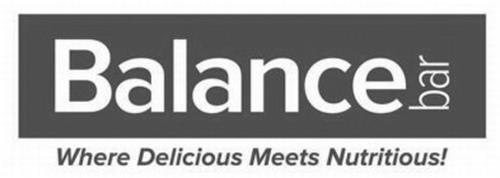 BALANCE BAR WHERE DELICIOUS MEETS NUTRITIOUS!