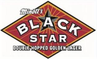 MINOTT'S BLACK STAR DOUBLE HOPPED GOLDEN LAGER