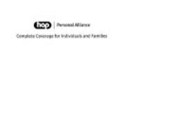 HAP PERSONAL ALLIANCE COMPLETE COVERAGE FOR INDIVIDUALS AND FAMILIES