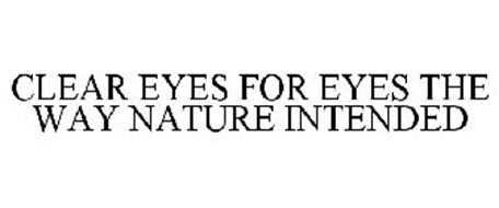 CLEAR EYES FOR EYES THE WAY NATURE INTENDED