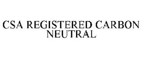 CSA REGISTERED CARBON NEUTRAL