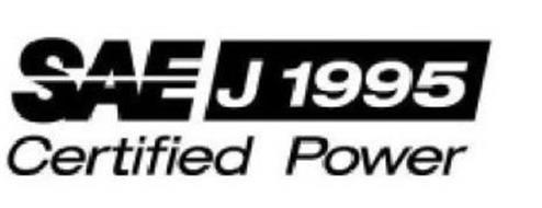SAE J1995 CERTIFIED POWER