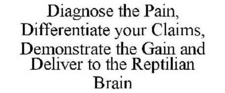 DIAGNOSE THE PAIN DIFFERENTIATE YOUR CLAIMS DEMONSTRATE THE GAIN DELIVER TO THE REPTILIAN BRAIN