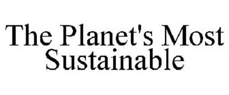 THE PLANET'S MOST SUSTAINABLE