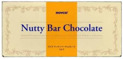 ROYCE' NUTTY BAR CHOCOLATE ALMOND PECANNUT CASHEWNUT MACADAMIANUT NUTTY PUFF AND PRALINE IN CHOCOLATE