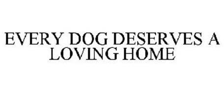 EVERY DOG DESERVES A LOVING HOME