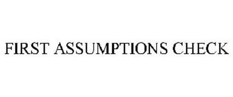 FIRST ASSUMPTIONS CHECK