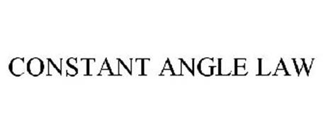 CONSTANT ANGLE LAW