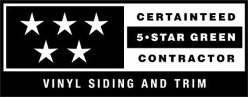 CERTAINTEED 5 · STAR GREEN CONTRACTOR VINYL SIDING AND TRIM
