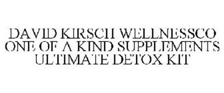 DAVID KIRSCH WELLNESSCO ONE OF A KIND SUPPLEMENTS ULTIMATE DETOX KIT