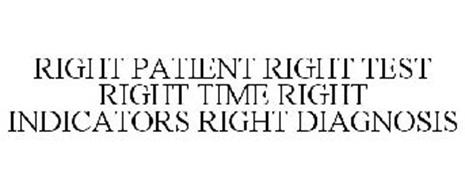 RIGHT PATIENT RIGHT TEST RIGHT TIME RIGHT INDICATORS RIGHT DIAGNOSIS