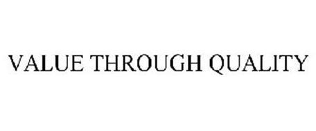 VALUE THROUGH QUALITY
