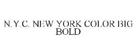 N.Y.C. NEW YORK COLOR BIG BOLD