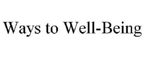 WAYS TO WELL-BEING