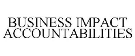BUSINESS IMPACT ACCOUNTABILITIES