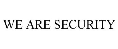 WE ARE SECURITY