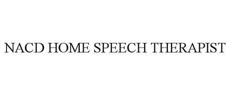 NACD HOME SPEECH THERAPIST
