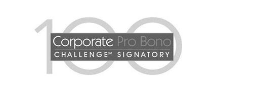100 CORPORATE PRO BONO CHALLENGE SIGNATORY