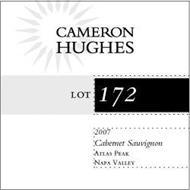 CAMERON HUGHES LOT 172 2007 CABERNET SAUVIGNON ATLAS PEAK NAPA VALLEY