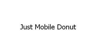 JUST MOBILE DONUT