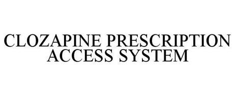 CLOZAPINE PRESCRIPTION ACCESS SYSTEM