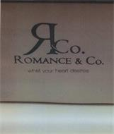 R&CO. ROMANCE & CO. WHAT YOUR HEART DESIRES