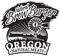 NATURAL BREW BURGER OREGON NATURAL MEATS