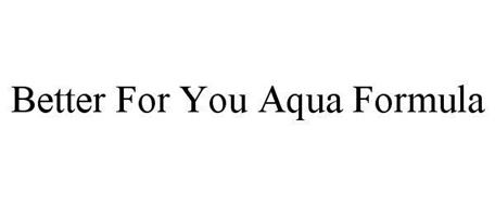 BETTER FOR YOU AQUA FORMULA