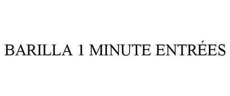 BARILLA 1 MINUTE ENTRÉES