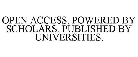 OPEN ACCESS. POWERED BY SCHOLARS. PUBLISHED BY UNIVERSITIES.