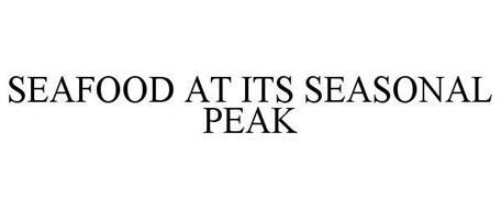 SEAFOOD AT ITS SEASONAL PEAK