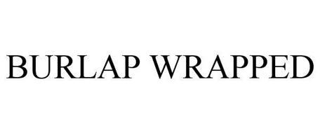 BURLAP WRAPPED