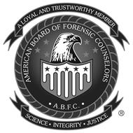 AMERICAN BOARD OF FORENSIC COUNSELORS · A.B.F.C. · A LOYAL AND TRUSTWORTHY MEMBER SCIENCE · INTEGRITY · JUSTICE