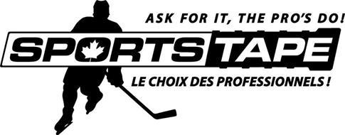 SPORTSTAPE ASK FOR IT, THE PRO'S DO! LE CHOIX DES PROFESSIONNELS!