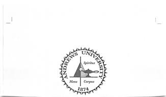 ANDREWS UNIVERSITY SPIRITUS MENS CORPUS 1874