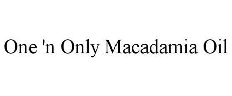 ONE 'N ONLY MACADAMIA OIL