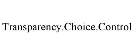 TRANSPARENCY.CHOICE.CONTROL