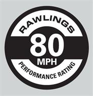 RAWLINGS PERFORMANCE RATING 80 MPH