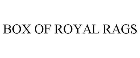 BOX OF ROYAL RAGS
