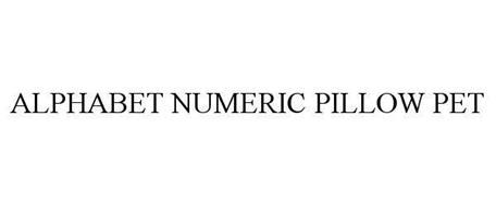 ALPHABET NUMERIC PILLOW PET