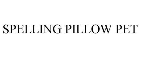 SPELLING PILLOW PET