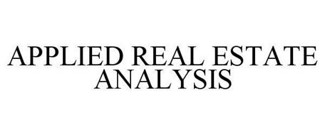 APPLIED REAL ESTATE ANALYSIS